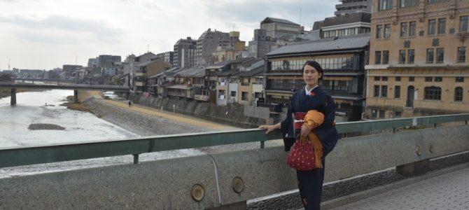 冬の京都祇園・東山の町並み